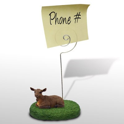 Goat Brown Memo Holder