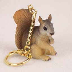 Squirrel Red Key Chain