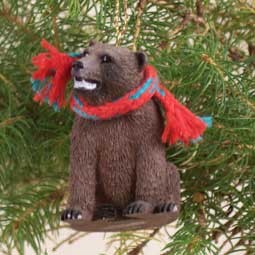 Bear Grizzly Original Ornament