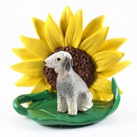 Bedlington Terrier Sunflower Friend